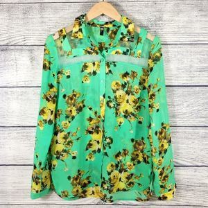 Kut from the Kloth Floral Button Down Size XS